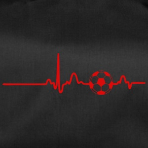 EKG HEART LINE FOOTBALL rød - Sportsbag
