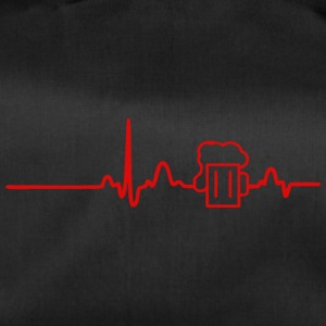 ECG HEART LINE BEER red - Duffel Bag