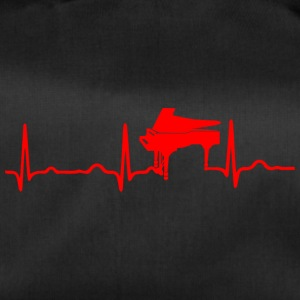 ECG HEARTBEAT PIANO rouge - Sac de sport