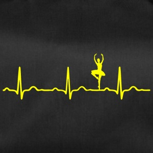 ECG HEARTBEAT BALLERINA yellow - Duffel Bag