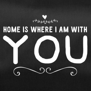 home is where i am with you - weiss - Sporttasche