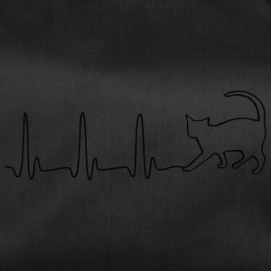 EKG HEART LINE CAT sort - Sportstaske