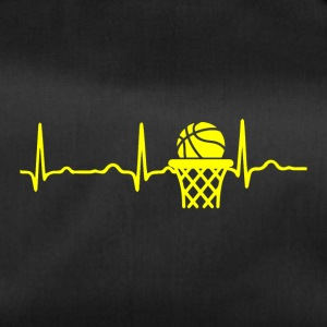 ECG HEARTBEAT BASKETBALL yellow - Duffel Bag
