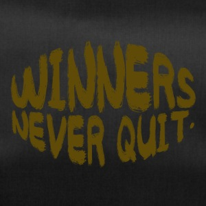 Coach / Trainer: Winners Never Quit - Duffel Bag