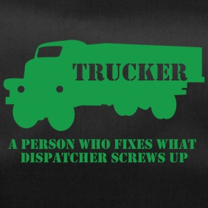 Trucker / LKW-Fahrer: A person who fixes what - Sporttasche