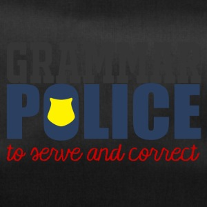 Polizei: Grammar Police to serve and correct - Sporttasche