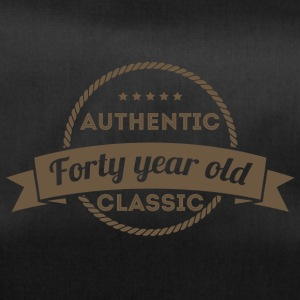 40th Birthday: Authentic - Forty Year Old - Class - Duffel Bag