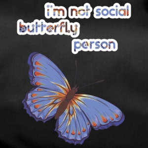 i am not social butterfly person - Duffel Bag