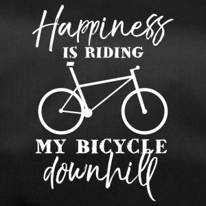 Happiness is riding my bicycle downhill - Sporttasche