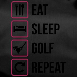 Eat Sleep Golf Repeat - Sporttasche