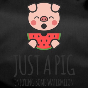Just A Pig Enjoying Some Watermelon - Duffel Bag