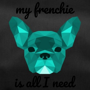 Lav Poly Frenchie cyan - Sportstaske