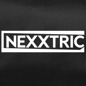 NEXXTRIC's white logo - Duffel Bag