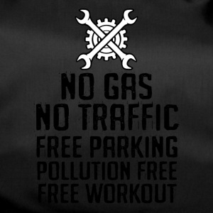 Bicycle: No gas. No traffic. Free parking. - Duffel Bag