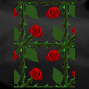 Red Rose Pattern - Sporttas
