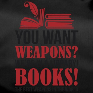 Books the best weapons in the world - Duffel Bag