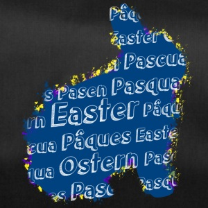 Easter bunny with Easter in different languages - Duffel Bag