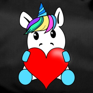 Unicorn with heart - Duffel Bag