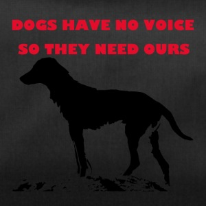 TS_dogs have no voice1 red - Sporttasche
