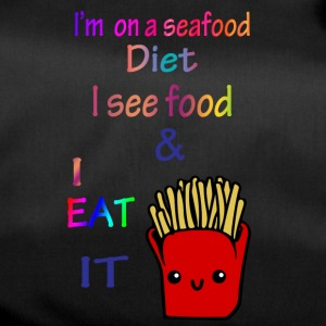 I'm on a sea food diet. - Duffel Bag