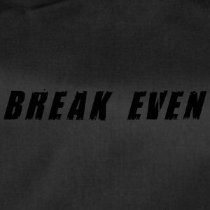 Break Even Black tekst - Sportstaske