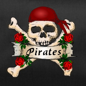 Pirate head with roses, In the name of the rose - Duffel Bag
