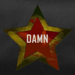 "A star with the word ""DAMN"" red-yellow - Duffel Bag"