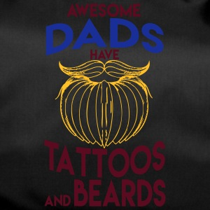 ONLY the best dads have tattoos and beards - Duffel Bag