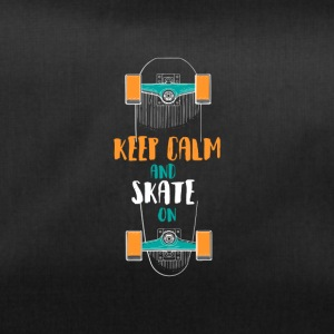 Keep Calm and Skate On Skateboarding t-shirt Tea - Duffel Bag