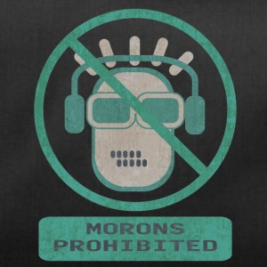 Blue moron prohibited - Duffel Bag