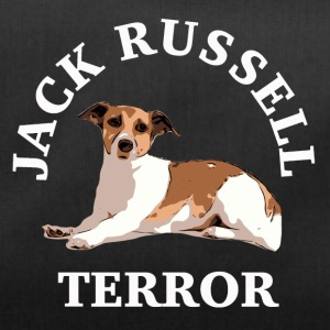 Jack Russell terror3 white - Duffel Bag