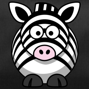 Thick zebra with big eyes comic style - Duffel Bag