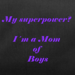 Superpower mom - lila - Sporttasche