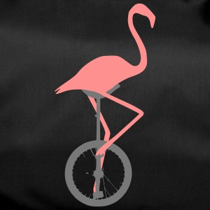 Flamingo on unicycle - Duffel Bag