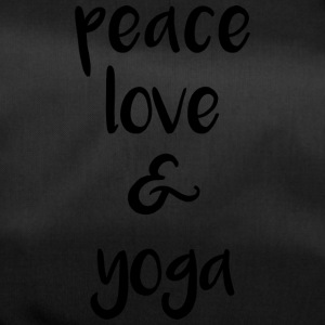 Peace love and yoga - Sporttasche
