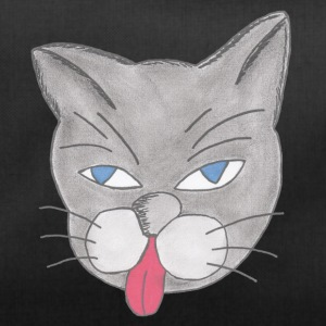 Cat Comic grigio scuro - Borsa sportiva
