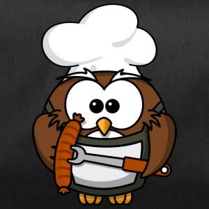 Owl on grill with food comic style - Duffel Bag