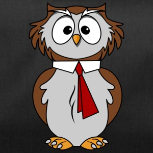 Funny owl in comic style necktie Chic - Duffel Bag