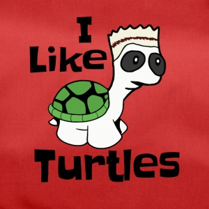 "Funny ""I like turtles"" design - Duffel Bag"