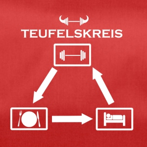 teufelskreis - train eat sleep - Sporttasche
