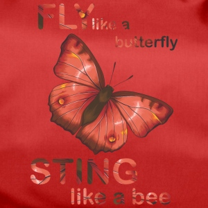 fly like butterfly sting like a bee - Duffel Bag