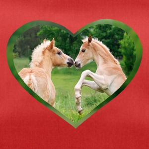 Haflinger foal funny friends with heart - Duffel Bag