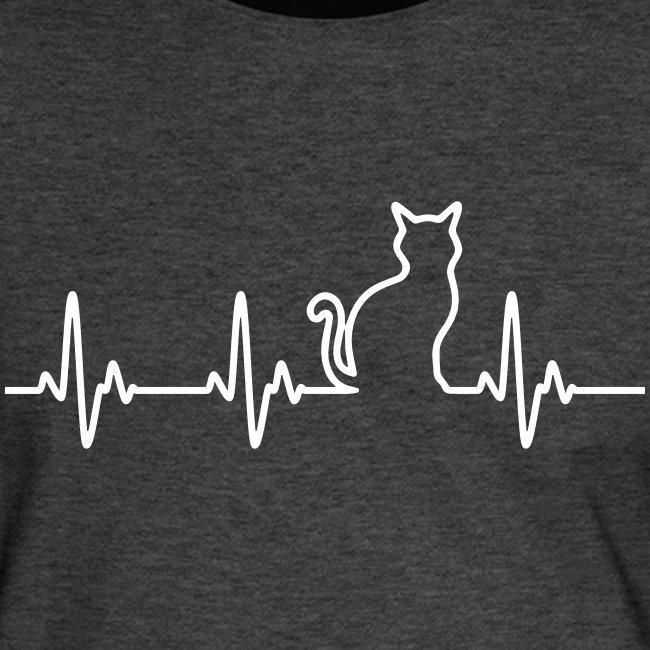 Vorschau: Ein Herz für Katzen - Männer Kontrast-T-Shirt