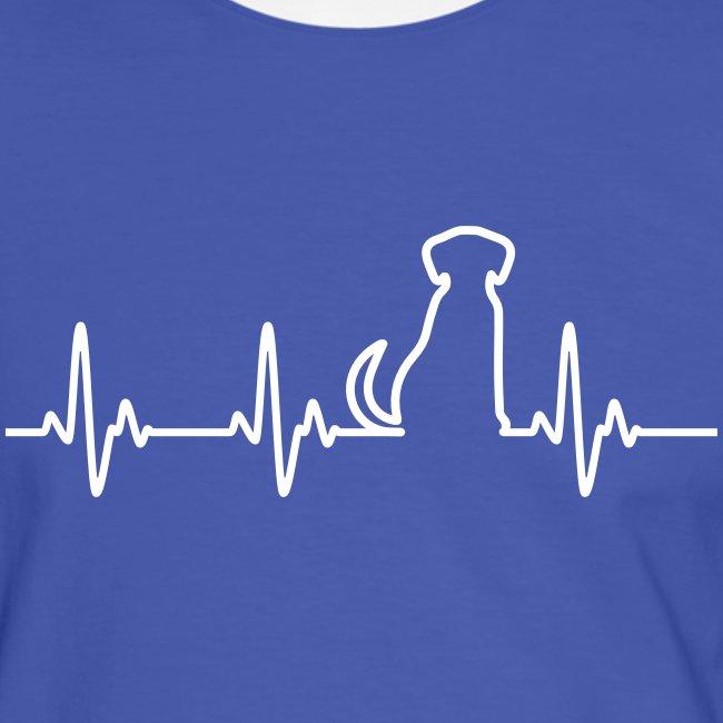 Vorschau: Hunde Herz - Männer Kontrast-T-Shirt