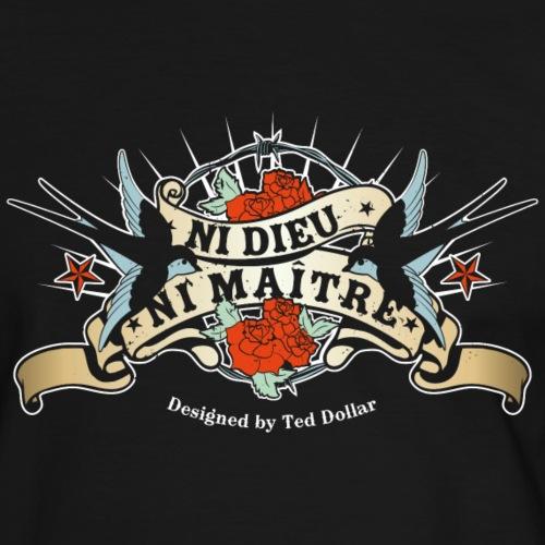 Ni dieu ni maître - T-shirt contrasté Homme