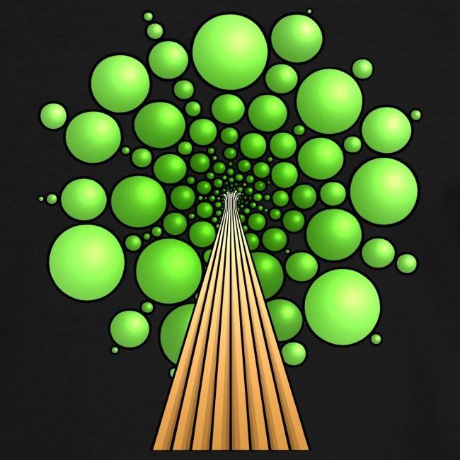 Kugel-Baum, 3d, hellgrün