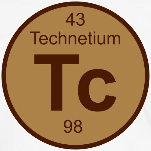 Technetium (Tc) (element 43) - Men's Ringer Shirt