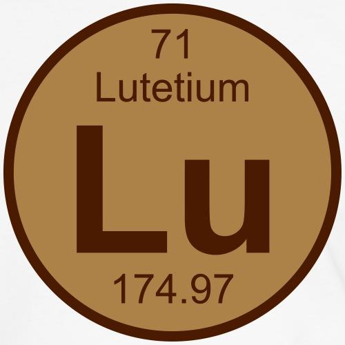 lu (lutetium) - Element 71 - Round (white) - Men's Ringer Shirt