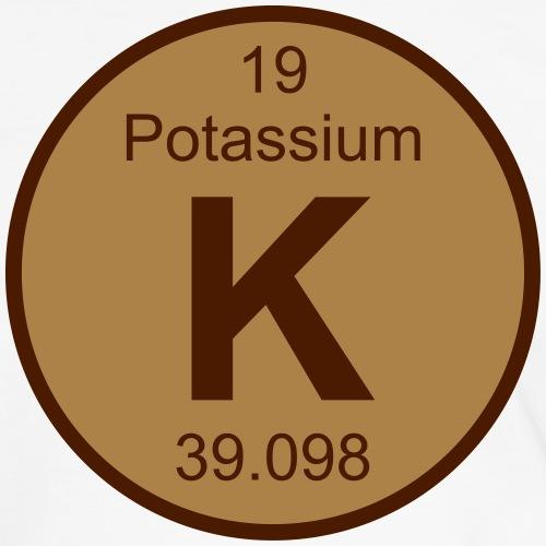 Potassium (K) (element 19) - Men's Ringer Shirt