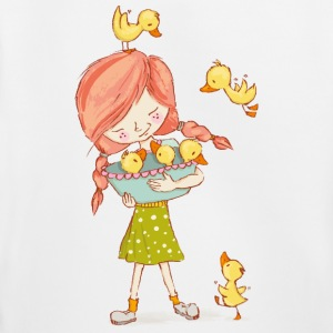 Girl with ducks - Kids' Premium Hoodie